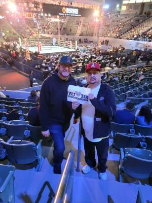 Philip  attended Premier Boxing Champions: Nery vs. Figueroa on May 15th 2021 via VetTix