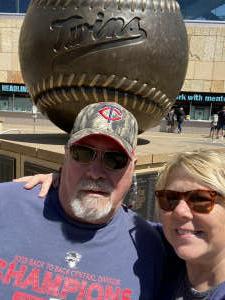 Sue Boudrie attended Minnesota Twins vs. Kansas City Royals - MLB on May 29th 2021 via VetTix