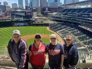 Julia  attended Minnesota Twins vs. Kansas City Royals - MLB on May 29th 2021 via VetTix