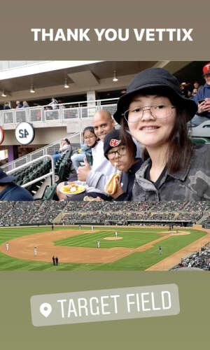 SGT. Johnson attended Minnesota Twins vs. Kansas City Royals - MLB on May 30th 2021 via VetTix