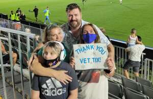 The Thompsons attended Austin Bold FC vs. Real Monarchs - Uslc - Opening Night on May 26th 2021 via VetTix