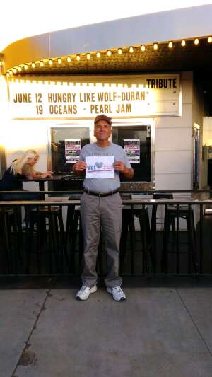 David attended Hungry Like a Wolf - Duran Duran Tribute Band on Jun 12th 2021 via VetTix