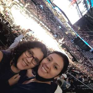 A1C Sandra Flores  attended Brooklyn Nets vs. Boston Celtics - NBA - First Round Playoffs! ** Vaccinated Fan Section Only ** on May 22nd 2021 via VetTix