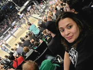 Equene and Gabby attended Brooklyn Nets vs. Boston Celtics - NBA - First Round Playoffs! ** Vaccinated Fan Section Only ** on May 22nd 2021 via VetTix