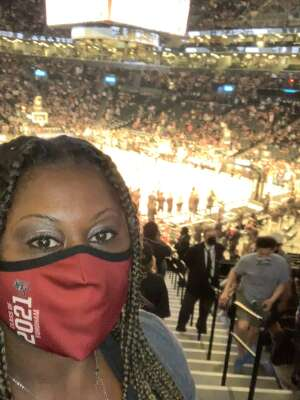 Danielle attended Brooklyn Nets vs. Boston Celtics - NBA - First Round Playoffs! ** Vaccinated Fan Section Only ** on May 22nd 2021 via VetTix