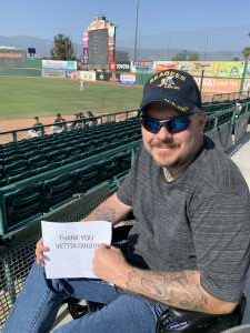 Mike Robertson attended Inland Empire 66ers vs. Modesto Nuts - MiLB on May 23rd 2021 via VetTix