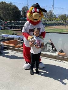 Green's Thank you attended Inland Empire 66ers vs. Modesto Nuts - MiLB on May 23rd 2021 via VetTix