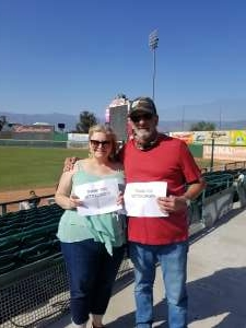 Howard attended Inland Empire 66ers vs. Fresno Grizzlies - MiLB on May 30th 2021 via VetTix
