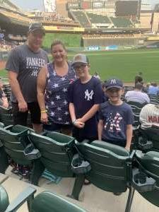 Brent Kraft attended Minnesota Twins vs. New York Yankees - MLB on Jun 9th 2021 via VetTix