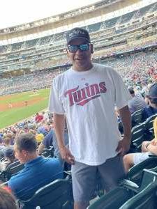 Ramiro attended Minnesota Twins vs. Houston Astros - MLB on Jun 11th 2021 via VetTix