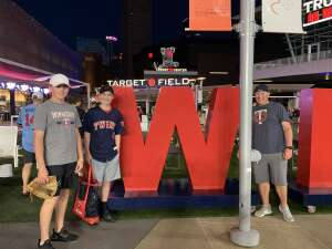John attended Minnesota Twins vs. Houston Astros - MLB on Jun 12th 2021 via VetTix