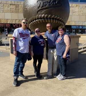 Matthew Doughty attended Minnesota Twins vs. Houston Astros - MLB on Jun 12th 2021 via VetTix