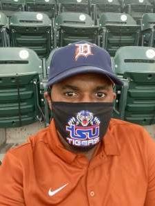 Hodari Brown attended Detroit Tigers vs. Cleveland Indians - MLB on May 25th 2021 via VetTix