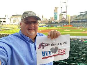 Finally Time to Play Ball! attended Detroit Tigers vs. Cleveland Indians - MLB on May 25th 2021 via VetTix