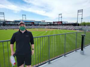 James attended Chicago Dogs vs. Sioux City Explorers - American Association of Independent Professional Baseball on May 30th 2021 via VetTix