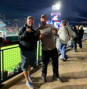 James attended Colorado Rockies vs. Texas Rangers - MLB on Jun 1st 2021 via VetTix