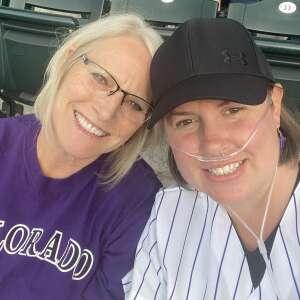 Teresa Barber attended Colorado Rockies vs. Texas Rangers - MLB on Jun 1st 2021 via VetTix