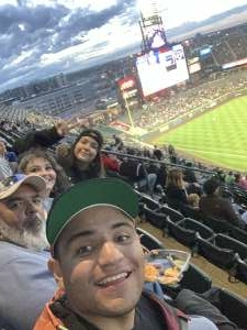 Spencer Lopez attended Colorado Rockies vs. Texas Rangers - MLB on Jun 1st 2021 via VetTix