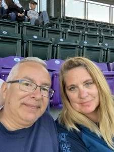 Gary & Jennie Trevino attended Colorado Rockies vs. Texas Rangers - MLB on Jun 1st 2021 via VetTix