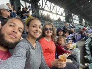 First game attended Colorado Rockies vs. Texas Rangers - MLB on Jun 1st 2021 via VetTix