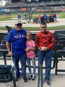 Mathis attended Colorado Rockies vs. Texas Rangers - MLB on Jun 1st 2021 via VetTix
