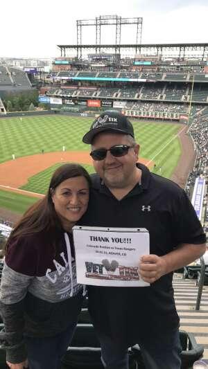 Jon attended Colorado Rockies vs. Texas Rangers - MLB on Jun 1st 2021 via VetTix