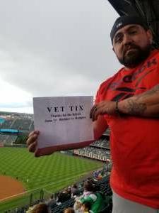 Max Tafoya attended Colorado Rockies vs. Texas Rangers - MLB on Jun 1st 2021 via VetTix