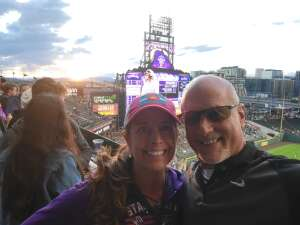 Cyndi attended Colorado Rockies vs. Texas Rangers - MLB on Jun 1st 2021 via VetTix