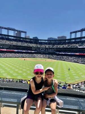 Chris Traphagan attended Colorado Rockies vs. Texas Rangers - MLB on Jun 3rd 2021 via VetTix