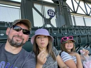 Marie attended Colorado Rockies vs. Texas Rangers - MLB on Jun 3rd 2021 via VetTix