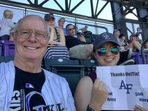 Gary S attended Colorado Rockies vs. Texas Rangers - MLB on Jun 3rd 2021 via VetTix