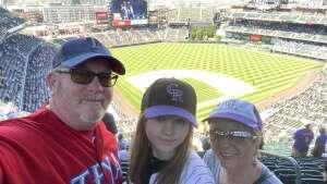 Randy A. attended Colorado Rockies vs. Texas Rangers - MLB on Jun 3rd 2021 via VetTix