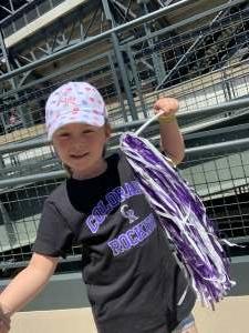 Dillon Small attended Colorado Rockies vs. Texas Rangers - MLB on Jun 3rd 2021 via VetTix