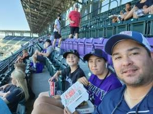 Kris attended Colorado Rockies vs. Texas Rangers - MLB on Jun 3rd 2021 via VetTix