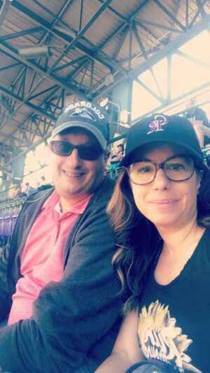 Rae Biegalski attended Colorado Rockies vs. Texas Rangers - MLB on Jun 3rd 2021 via VetTix