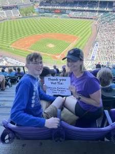 Kim Stuhlreyer attended Colorado Rockies vs. Texas Rangers - MLB on Jun 3rd 2021 via VetTix