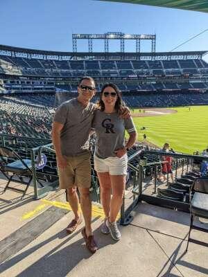 Lady Molina attended Colorado Rockies vs. Oakland Athletics - MLB on Jun 4th 2021 via VetTix