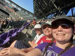 Sarah attended Colorado Rockies vs. Oakland Athletics - MLB on Jun 4th 2021 via VetTix