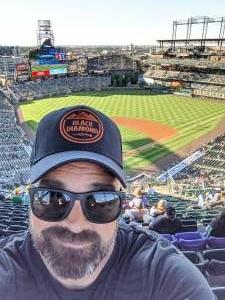 Freeman attended Colorado Rockies vs. Oakland Athletics - MLB on Jun 4th 2021 via VetTix