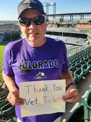 Gabe attended Colorado Rockies vs. Oakland Athletics - MLB on Jun 4th 2021 via VetTix