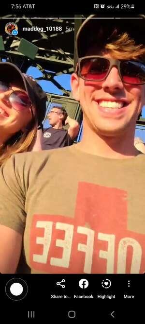 Taylor attended Colorado Rockies vs. Oakland Athletics - MLB on Jun 4th 2021 via VetTix