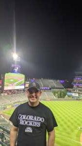 Ben attended Colorado Rockies vs. Oakland Athletics - MLB on Jun 4th 2021 via VetTix