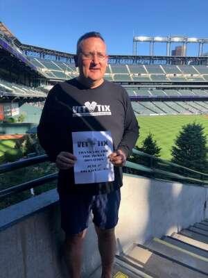 Brian Notman attended Colorado Rockies vs. Oakland Athletics - MLB on Jun 4th 2021 via VetTix