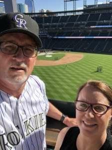 Tim & Kelly  attended Colorado Rockies vs. Oakland Athletics - MLB on Jun 4th 2021 via VetTix