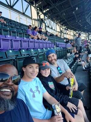 Russell attended Colorado Rockies vs. Oakland Athletics - MLB on Jun 4th 2021 via VetTix