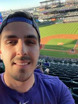 Rene attended Colorado Rockies vs. Oakland Athletics - MLB on Jun 4th 2021 via VetTix