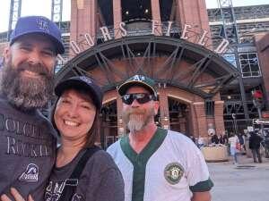 Let's Go Rockies! attended Colorado Rockies vs. Oakland Athletics - MLB on Jun 4th 2021 via VetTix