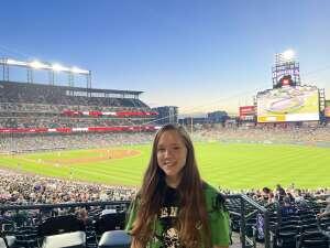 Christine attended Colorado Rockies vs. Oakland Athletics - MLB on Jun 4th 2021 via VetTix