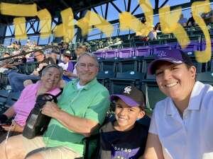 Rosa attended Colorado Rockies vs. Oakland Athletics - MLB on Jun 4th 2021 via VetTix