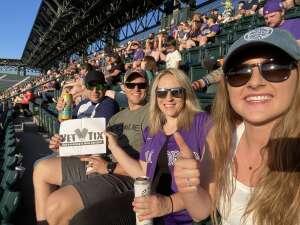 Zach attended Colorado Rockies vs. Oakland Athletics - MLB on Jun 4th 2021 via VetTix